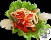 Теплый салат из кальмара и болгар - бесплатная доставка по Ульяновску.