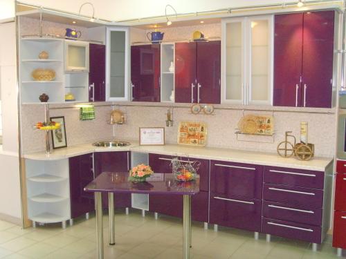 фиолетовые кухни фото - каталог мебели 2013 года