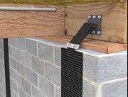 Используйте Усиление карбоном стены стежки,  чтобы укрепить стены трещи