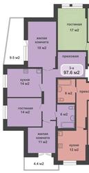 Продам 3-х комнатную квартиру в Ульяновске с удачной планировкой