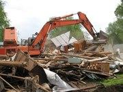 Демонтажныке работы. Снос домов