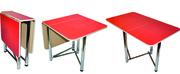 Производим кухонные столы и табуреты. Хром